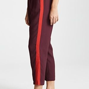 Habitual Red Abigail HighRise burgundy pants 4 NWT